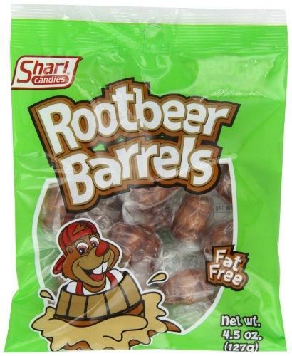 Shari Root Beer Barrels, 4.5-Ounce Bags (Pack of 12)]()