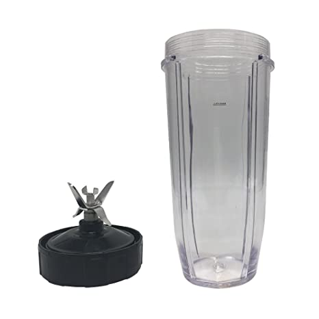 32oz Replacement Cup and 6 fins Blade with 7 Fins Gear,Replacement Parts Blade Assembly for Nutri Ninja Blender Auto iQ ...