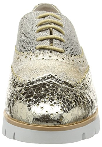 Gold La Femme Gold Gold 1443 Or Baskets natural Shoe Lace Up Basses Strada 4qxq1wr5
