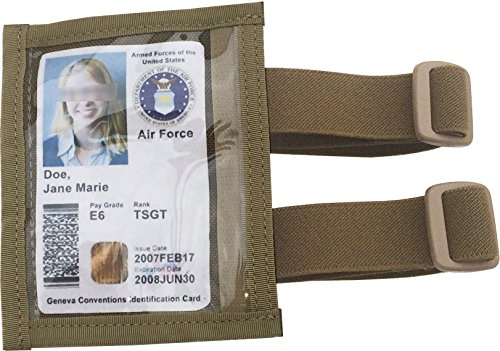 fire force military armband id holder badge holder with 2 straps