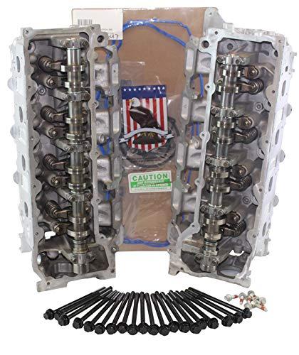 Remanufactured Cylinder Head - ADV Cylinder Heads Remanufactured Replacement for sler Dodge Jeep Cherokee Dakota 4.7 SOHC Cylinder Head PAIR Gaskets & Bolts