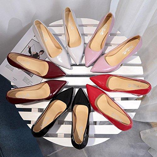 Punta Para Tacón Altas Boda Mujer Noche Calzado Moda Zapatos Otoño Negras De Tallas Fiesta Con Grandes Cuña Vestir Sólido Dama Rojo Ancho Paolian Chic Baratos Trabajo 1wx0qF
