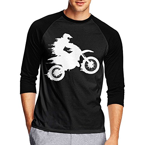 Motocross Drivers Silhouette-1 Men's Casual Half Sleeve Printed Tee - Raglan Jersey - Swimming India Goggles