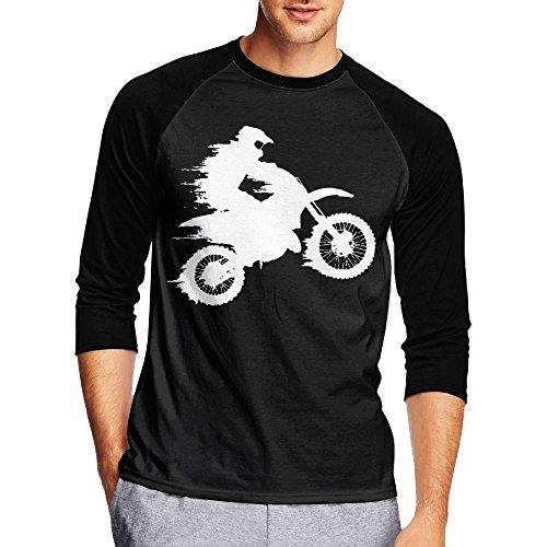 Motocross Drivers Silhouette-1 Men's Casual Half Sleeve Printed Tee - Raglan Jersey - India Swimming Goggles Online