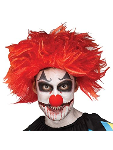 Fun World Unisex-Adult's Killer Clown Wig Costume Accessory,