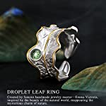 ✦Gift for Mother's Day✦ Lotus Fun S925 Sterling Silver Rings Natural Adjustable Leaf Ring Handmade Unique Fashion…