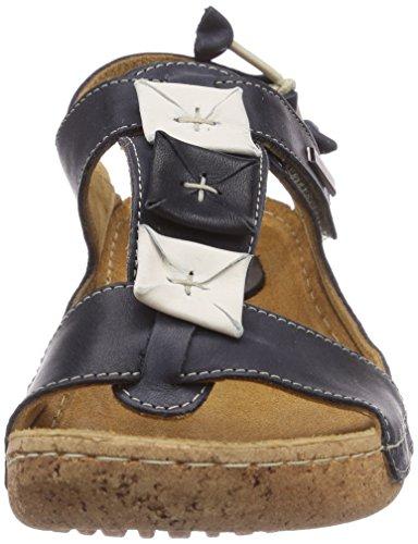 Sandalen 1 Damen Manitu 910575 schwarz Leder schwarz Pantoletten xH5nBWwn