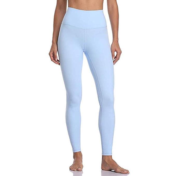 Mujer Pantalones Mallas Mujer Fitness Elásticos Mallas Moda Pantalones Color sólido Leggings Slim Fit Mayas Secado rapido Largos Pantalones Gym Yoga ...