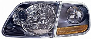 Depo 330-1119PXASC2 Headlight Projector with Park Lamp and Black Bezel