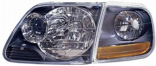 Depo 330-1119PXASC2 Headlight Projector with Park Lamp and Black Bezel Depo Clear Projector Headlights