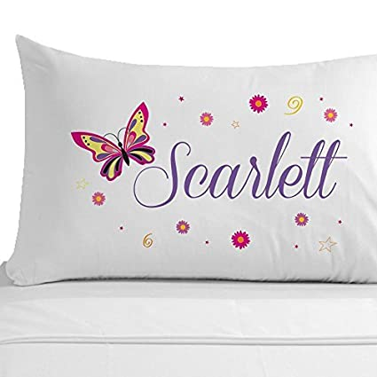 Amazon.com: Personalized butterfly Pillowcases White Cotton ...