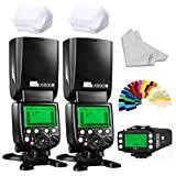 Pixel X800C pro Wireless DSLR Camera Flash Speedlite 2 Piece Plus KING/KING PRO Radio Transmitter for Canon DSLR Cameras With high-speed sync 1/8000s ETTL FSK2.4GHz