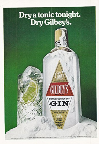 1975 Vintage Print Advertisement for Gilbey