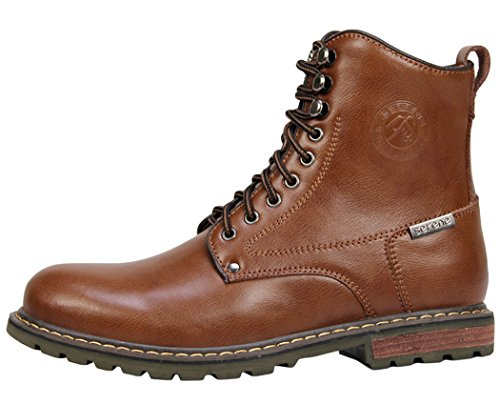 Serene Mens High Top Lace Up Fashion Oxfords (7.5 D(M)US, Brown)