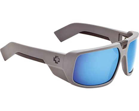 5d51596ed1 Amazon.com  Spy Optic Touring Sunglasses - Primer Grey Grey With Blue  Spectra  Clothing