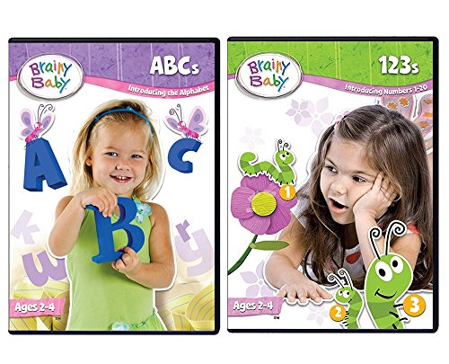 Brainy Baby ABCs and 123s DVD Deluxe Edition Set of 2