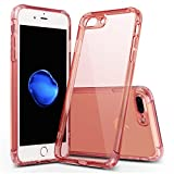 iPhone 8 Case,iPhone 7 Case,Crystal Clear Shock Absorption Technology Bumper Soft TPU Cover Case for iPhone 8/iPhone 7 (Rose Gold)