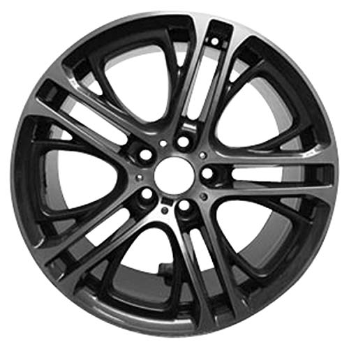 Multiple Manufactures ALY71487U30 Dark Charcoal Gray Wheel with Machined and Meets All Federal Motor Safety Standards (20 x 10. inches /5 x 120 mm, 51 mm Offset)