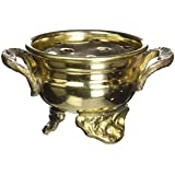 "India Brass Cauldron Burner for Resin Incense, 2""L"