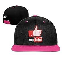 AAWODE Kid's YouTube Logo Adjustable Snapback Hip-hop Baseball Cap