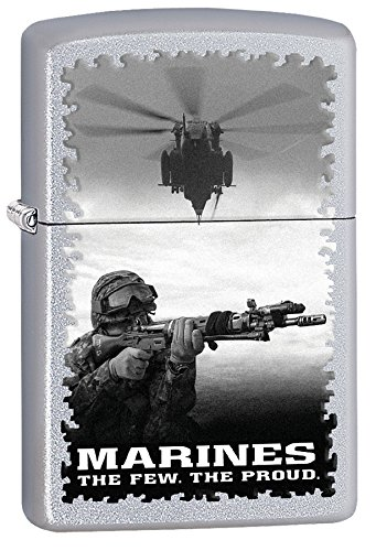 (Zippo U.S. Marine Corps Outdoor Indoor Windproof Lighter Custom Personalized Engraved Message Permanent Engraving on Backside (Style9))