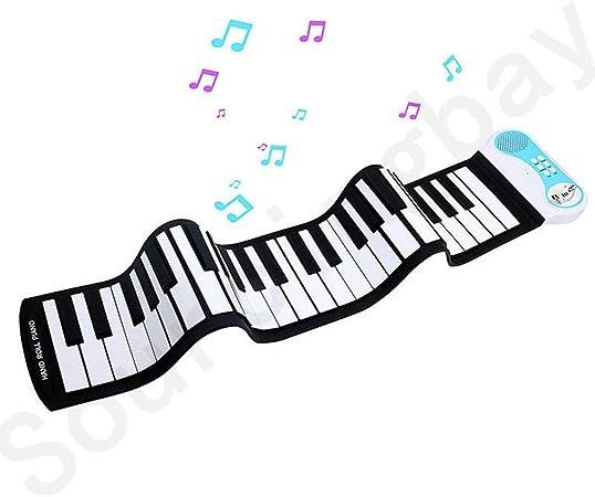 Doblando el piano del rodillo de la mano, teclado digital ...