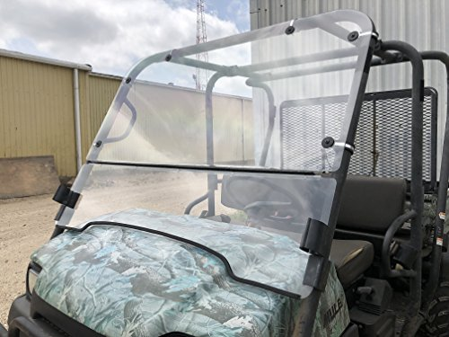 A&S AUDIO AND SHIELD DESIGNS KAWASAKI MULE 3000,3010 TRANS 4X4 FULL AND FLIP UP 1/4 POLYCARBONATE WINDSHIELD Mule 3010 Trans 4 X 4