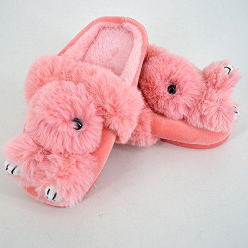 Monique Bambini Bambola Simpatica Cartone Animato Pantofole In Peluche Donne Pantofole Da Uomo Pantofole Da Genitore-bambino Rosa