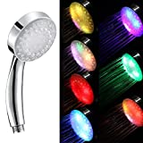 QJ 7-colors Mode LED Changing Shower Head Temperature Sensing Automatic Control Shower Sprinkler
