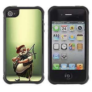 Suave TPU GEL Carcasa Funda Silicona Blando Estuche Caso de protección (para) Apple Iphone 4 / 4S / CECELL Phone case / / Scottish Bagpipe Player Kilt Man /