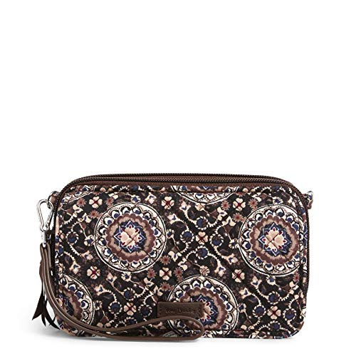 Vera Bradley Women's Signature Cotton All in One Crossbody Purse with RFID Protection