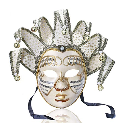 YUFENG Music Jester Venetian Mask Masquerade Mardi Gras Wall Decorative Art Collection