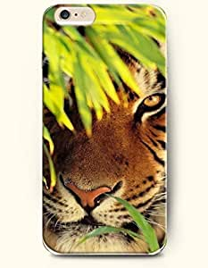 OOFIT iPhone 6 Case ( 4.7 Inches ) - Tiger Hidding in the Bush