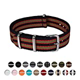 Archer Watch Straps | Nylon NATO Straps | Choice of Color and Size (Black/Red/Green, 20mm)