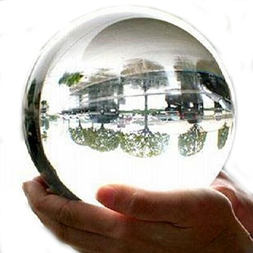 xiangshang shangmao 100mm+Stand Asian Rare Natural Quartz Clear Magic Crystal All Sphere