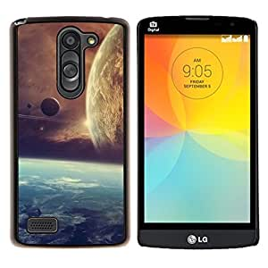 Be-Star Único Patrón Plástico Duro Fundas Cover Cubre Hard Case Cover Para LG L Prime / L Prime Dual Chip D337 ( Galassia Stelle 21 )