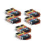 Set of PGI-250XL & CLI-251XL Compatible Ink Cartridge Set for Pixma IP7220, MG5420, MG6320, MX722, MX922 (6 black,6 photo black,6 cyan,6 magenta,6 yellow)Sold By Karl Aiken by Karl Aiken