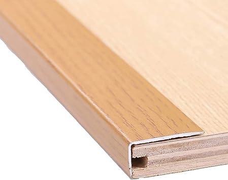Perfil de transición Tira de madera Tira de borde Tira antideslizante de escalera Estratificación de hebilla plana Ángulo recto Líneas decorativas Borde de presión (color : A4): Amazon.es: Bricolaje y herramientas