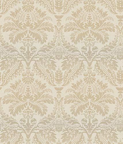 (Décor Direct YWCR2741 Pattern Wallpaper Iridescent Gold, Cream)