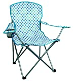 Highlander Folding Camp Chair ― Lightweight & Durable Outdoor Seat ― Perfect for Camping, Festivals, Garden, Caravan Trips, Fishing, Beach, BBQs (Blue Pattern)