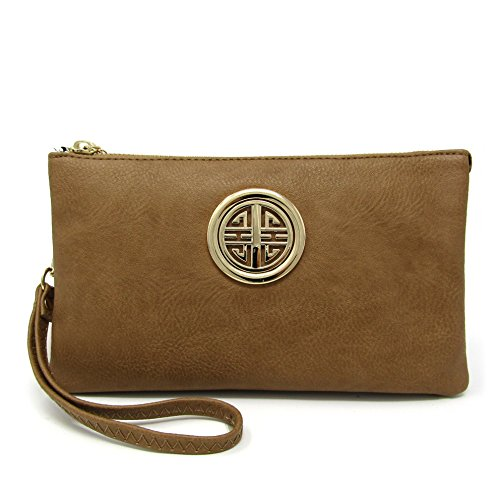 Crossbody and Functional Emblem Solene Compartment Girls Wristlet Womens Multi Bag Detachable Stone With ABwq06