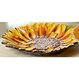Clay Art Tuscan Sunflower Shaped Platter
