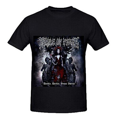 Cradle Of Filth Darkly Venus Aversa Pop Mens Casual Shirts Black