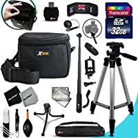 Xtech NIKON COOLPIX Accessories KIT for Nikon Coolpix S9900, S7000, S6900, S3700, S2900, C810, S33, S32, S9700, S9500, S9300, S9100, S8200, S8100, S8000 S3600, S3500, S3300, S3200, S3100, S3000, S4300, S4200, S4100, S4000, AW130, AW120, AW110, AW100, S80, S60, S220, P4, P3 Digital Cameras Includes: 32GB High Speed SD Memory Card + Pro Grade 60 inch Tripod + Well Padded Camera Case + 3 in 1 Monopod + MORE