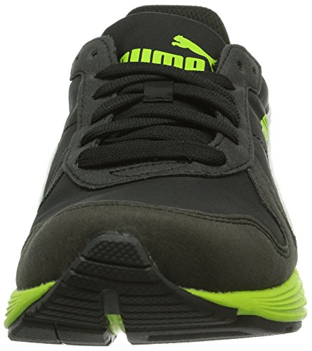 Puma St Runner - Zapatillas unisex Schwarz (black-lime green-white 07)