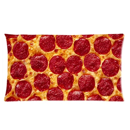 Funny Food Pillow Case - Popular 20x36 inch Two Sides Snack Shack Pizza Slice Rectangle Pillowcase (Sheets Pizza)