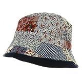 Girl Reversible Flower Bucket Hat - Blue W20S22B