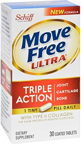Schiff Vitamins Move Free - Ultra - Triple Action with Type 2 Collagen - 30 Tablets (Pack of 2)