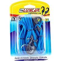 Elasticos Kit Com 3 Pçs De 1,50 Mts Motolux Luxcar Universal