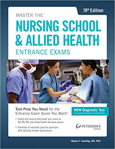 Master The Nursing School Allied Health Exams Petersons Master